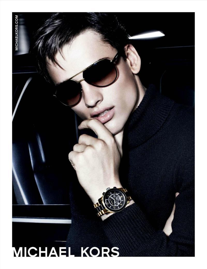 Simon Nessman Captivates in Michael Kors' Holiday 2012 Watches & Eyewear Campaign