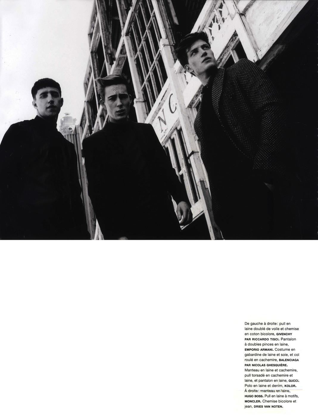 Milo Spijkers, Florian Van Bael & Miles Langford Walk the Walk in Black & White for Numéro Homme #24