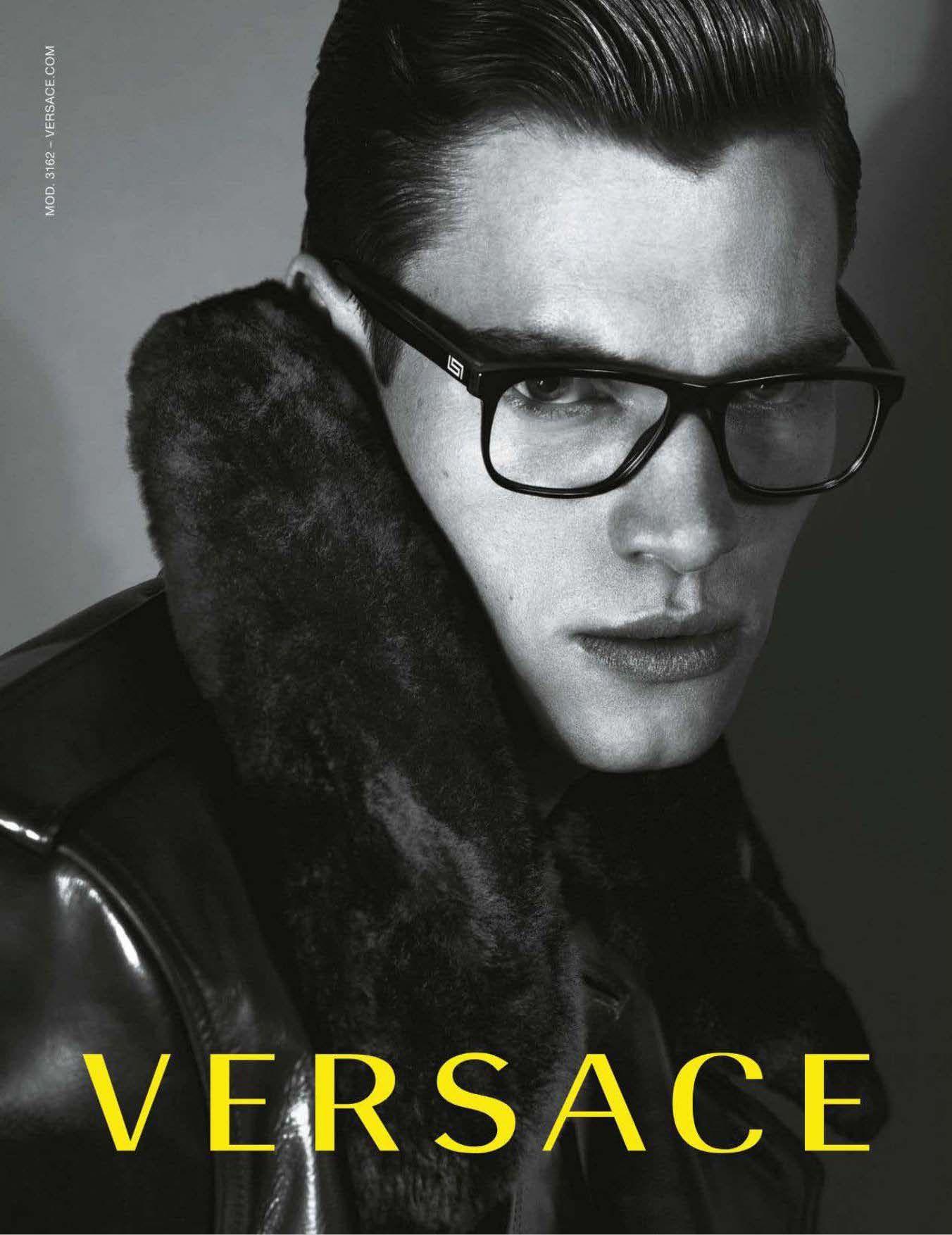 Philipp Schmidt Fronts Versace Fall/Winter 2012 Eyewear Campaign