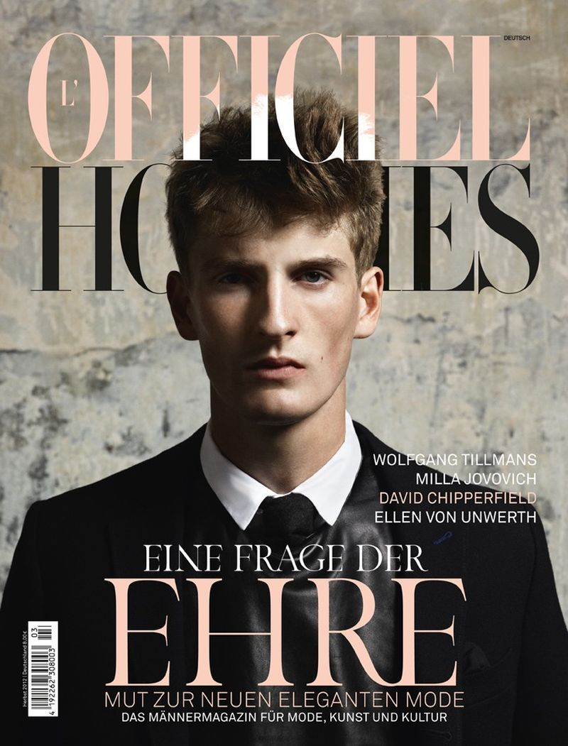Thomas Sottong Covers L'Officiel Hommes Germany Fall/Winter 2012