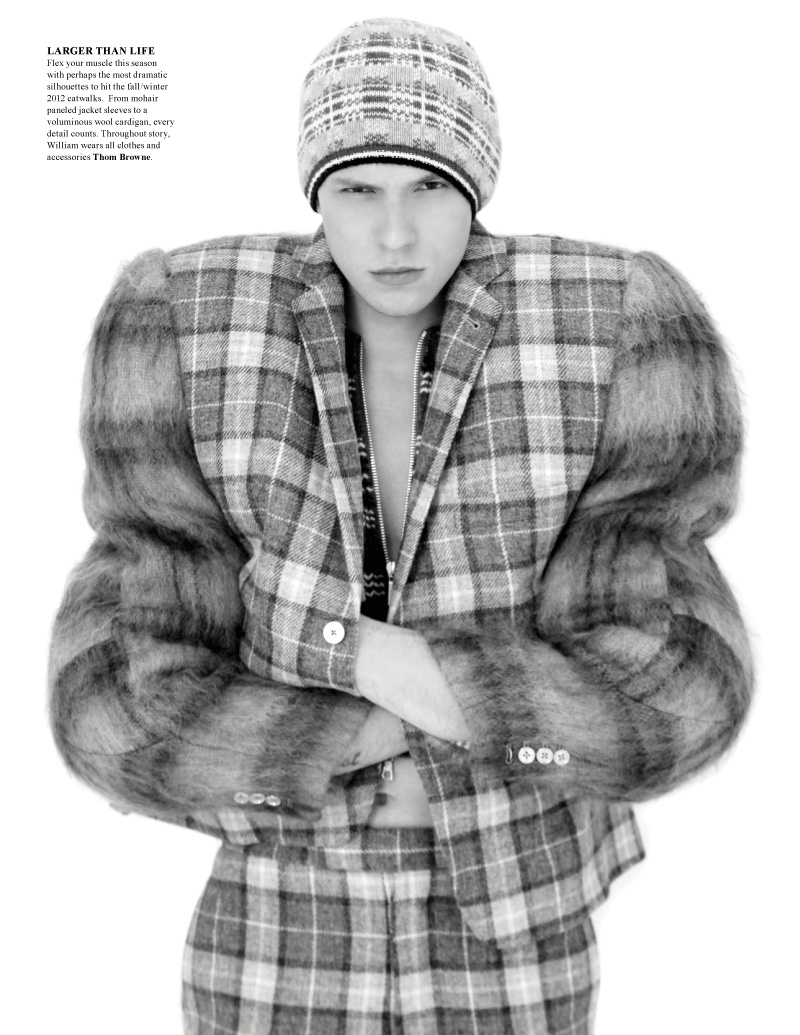 William Jagnow Makes Quite the Statement in Thom Browne for Fashionisto Fall 2012