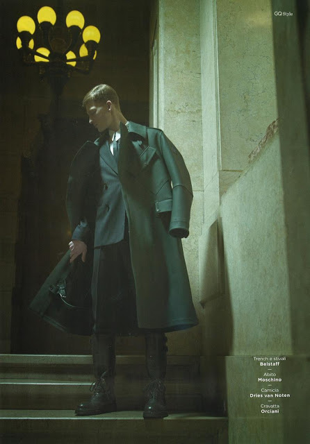 Bastian Thiery Sharpens His Style for GQ Style Italy