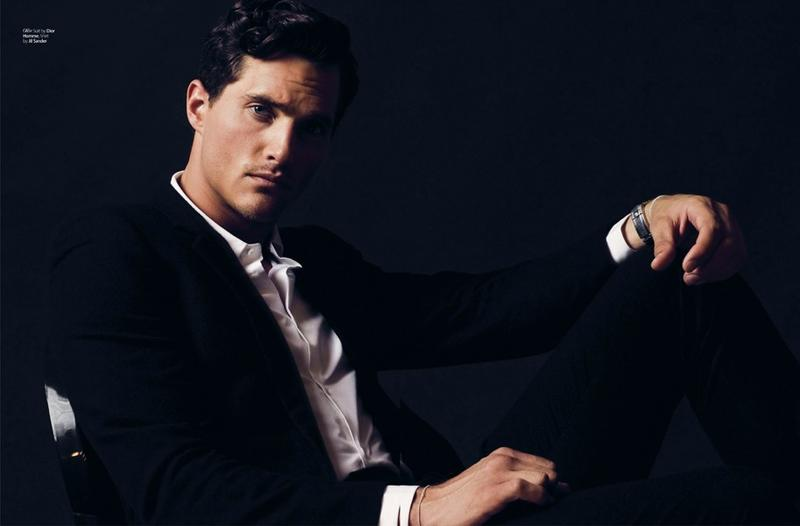 Ollie Edwards Looks Sharp in Black Styles for August Man Malaysia