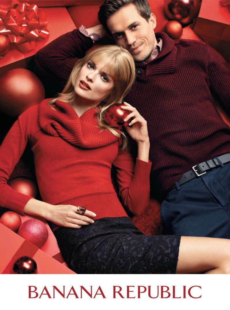 Andrew Cooper & Josh Wald are in a Festive Mood for Banana Republic's Holiday 2012 Campaign