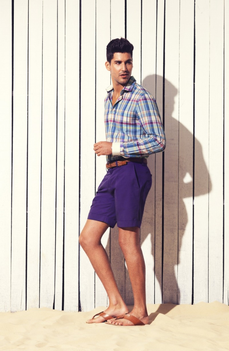 Miguel Iglesias Models Colorful Designs for Calibre's Spring/Summer 2012/13 Lookbook