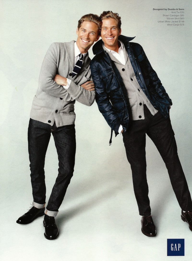 Travis & Brian Davenport are All Smiles for GAP + GQ Fall/Winter 2012 Campaign
