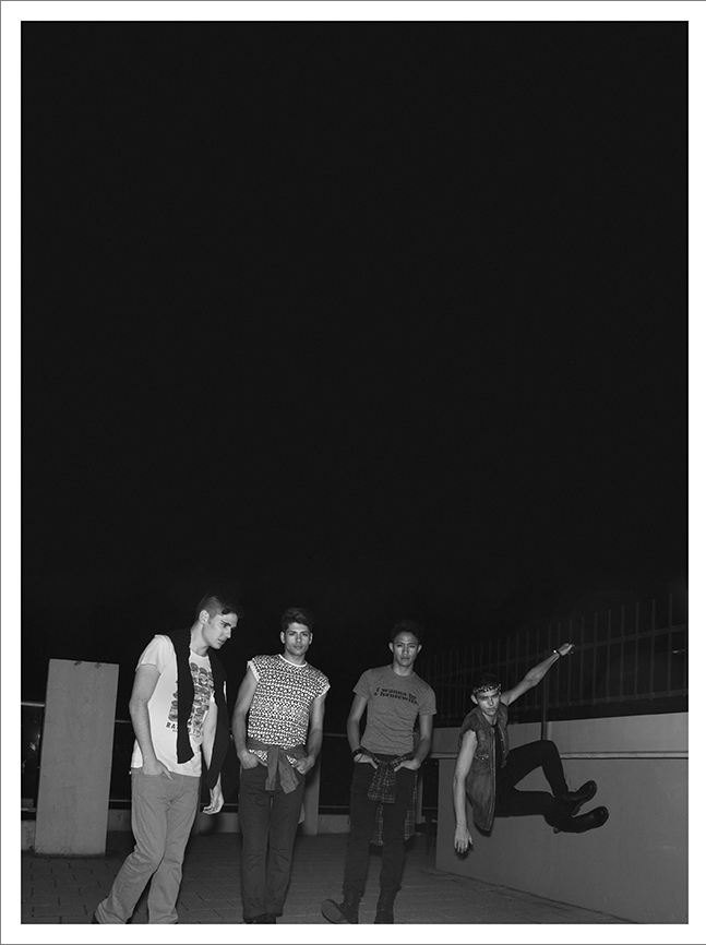 TBT: Justin M, Stefan, Feras & Rama Luksiarto in 'And the Night Belongs to Us' by Patrick Lacsina