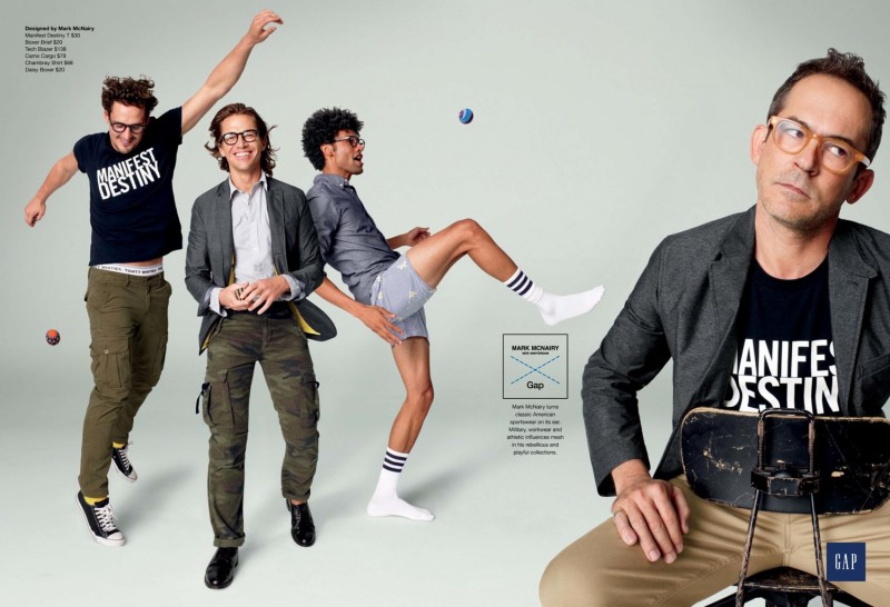 Sam Webb & Tommie Cross Front GAP + GQ Fall/Winter 2012 Campaign