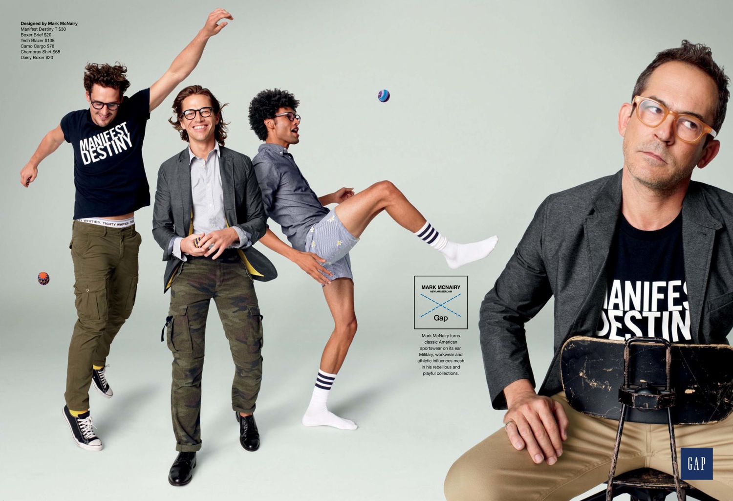 Sam Webb & Tommie Cross Front GAP + GQ Fall/Winter 2012 Campaign