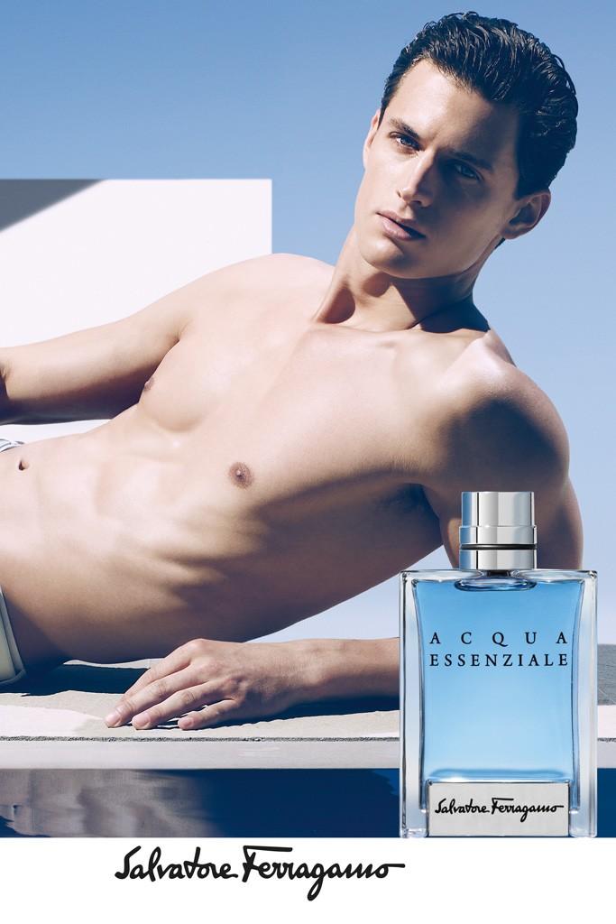 Garrett Neff is the Epitome of Masculine Strength for Salvatore Ferragamo's Acqua Essenziale Fragrance Campaign
