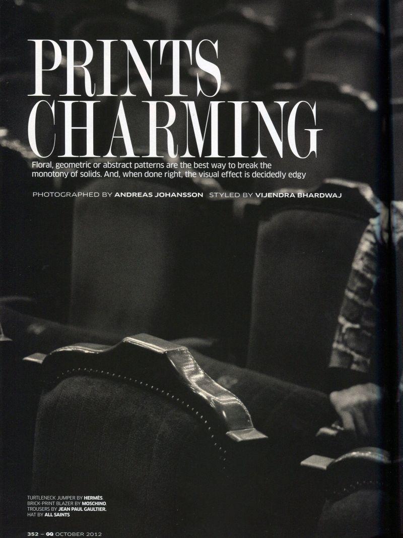 Paraskevas is 'Prints Charming' for GQ India