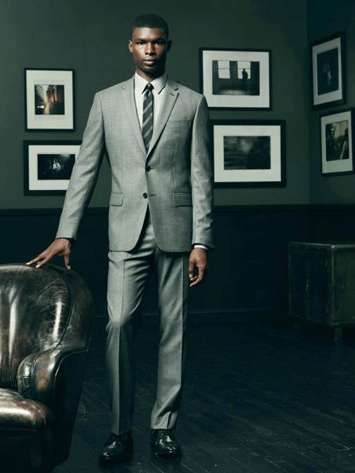 Salieu Jalloh Dons Fall/Winter 2012 Suiting for John Varvatos