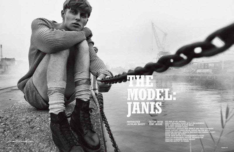 Lachlan Bailey Captures Janis Ancens for 10 Men's Cover Shoot