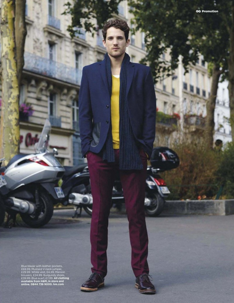 An Englishman In Paris For The November 2012 Issue Of GQ UK Storm Model Max Rogers Hits Streets A Story Focused On HMs Fall Winter