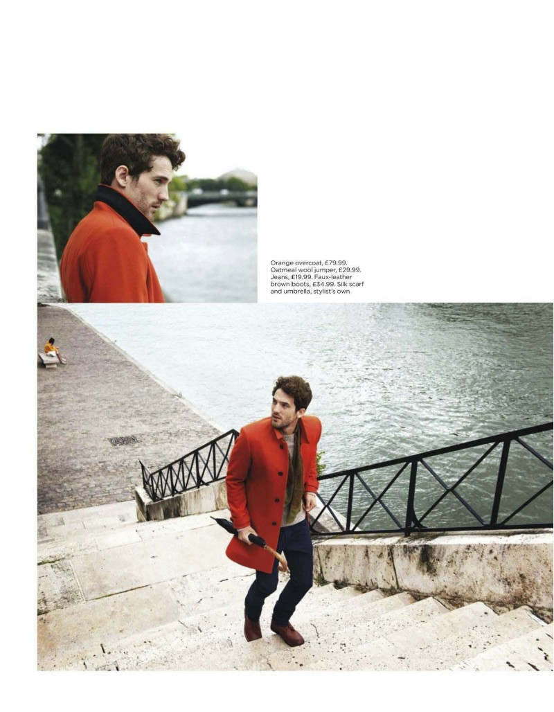 Max Rogers Models H&M's Fall/Winter 2012 Styles for British GQ