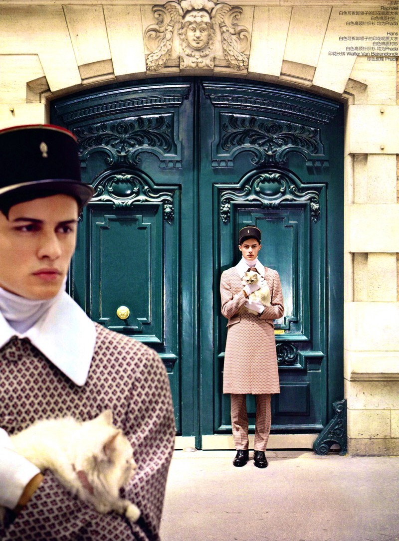 Hans & Raphael Hatt are Porters for GQ Style China