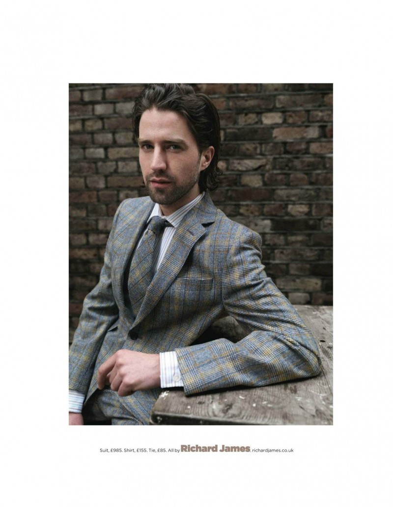 Max Rogers & Jack Guinness Showcase Tweed Looks for British GQ