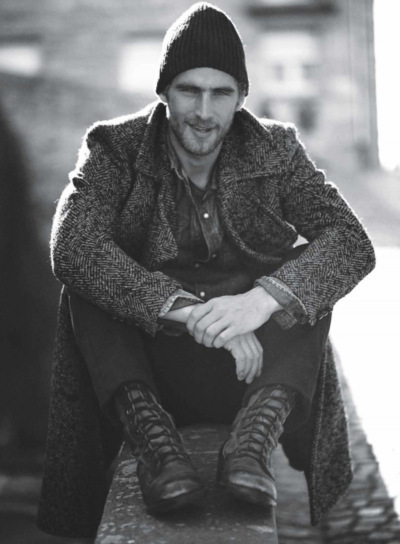 Will Chalker is on the Waterfront for the December Issue of Details