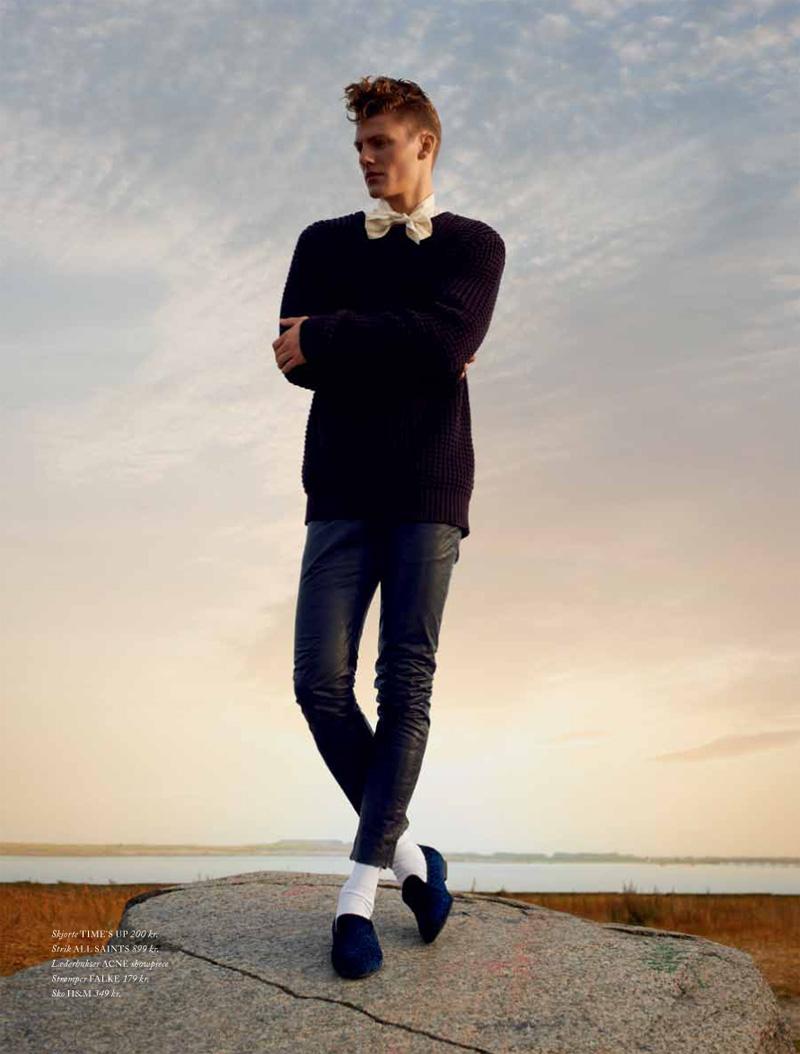 Mikkel Jensen is Clad in Black for Cover Man