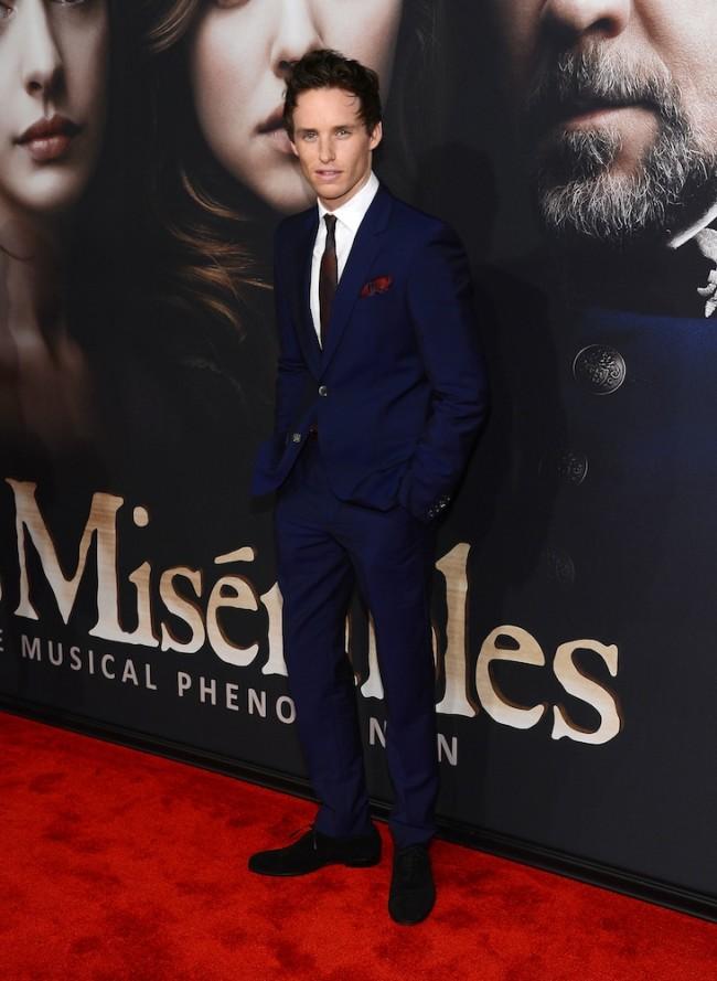 Eddie Redmayne Dons Alexander McQueen for 'Les Miserables' New York Premiere