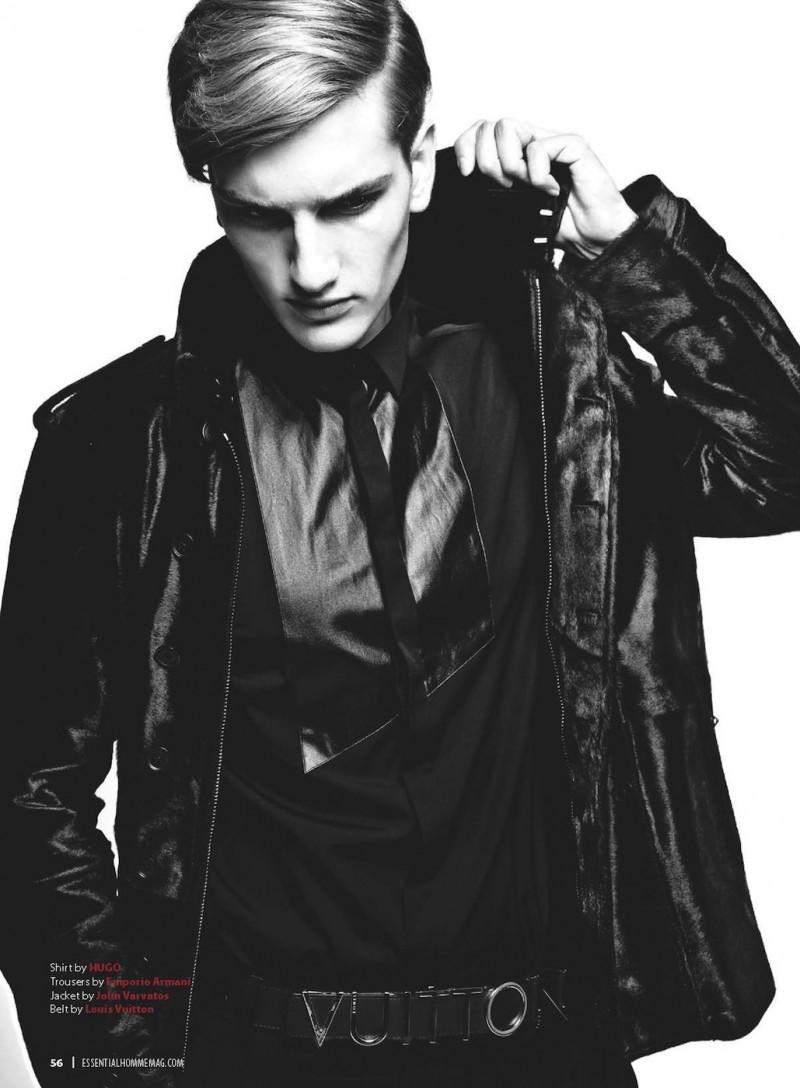 Chris Doe & Christian Von Pfefer Model Winter Designs for Essential Homme