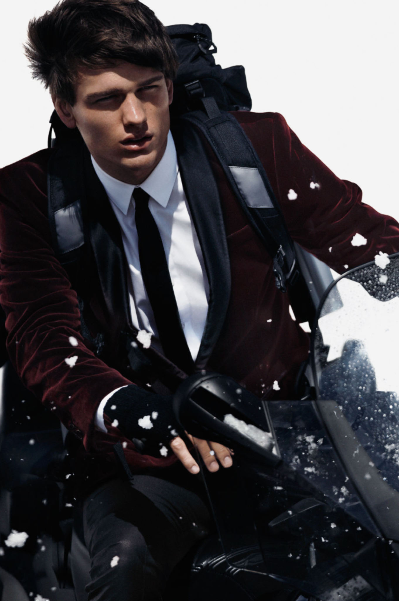 Simon Nessman Models H&M's Winter 2012 Looks