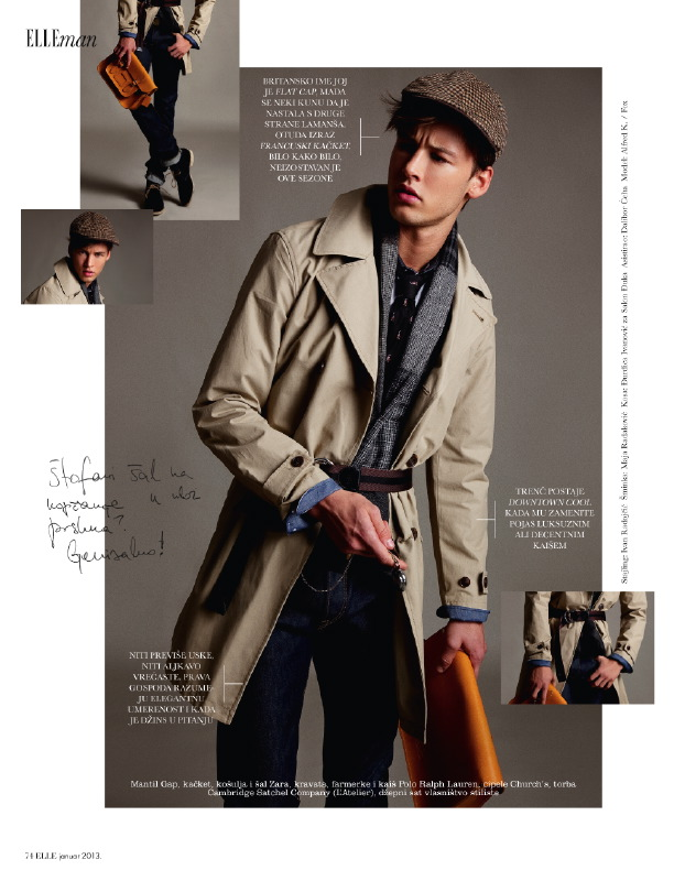 Alfred Kovac Dons Timeless Styles for Elle Man Serbia