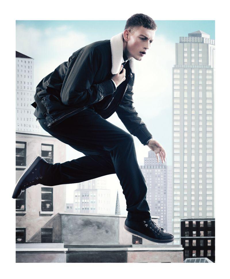Bastian Thiery Sports Dior Homme for Bullett Magazine