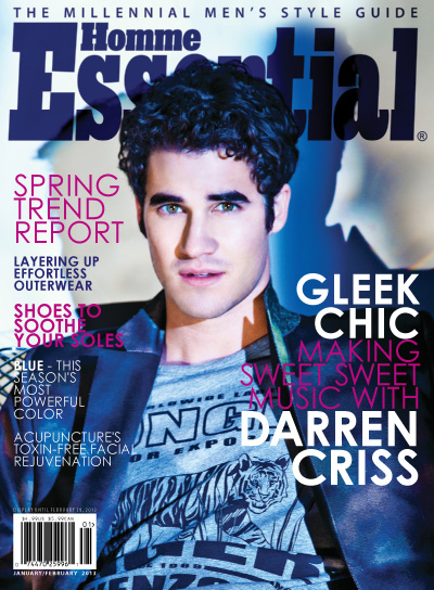 Darren Criss Covers Essential Homme January/February Issue