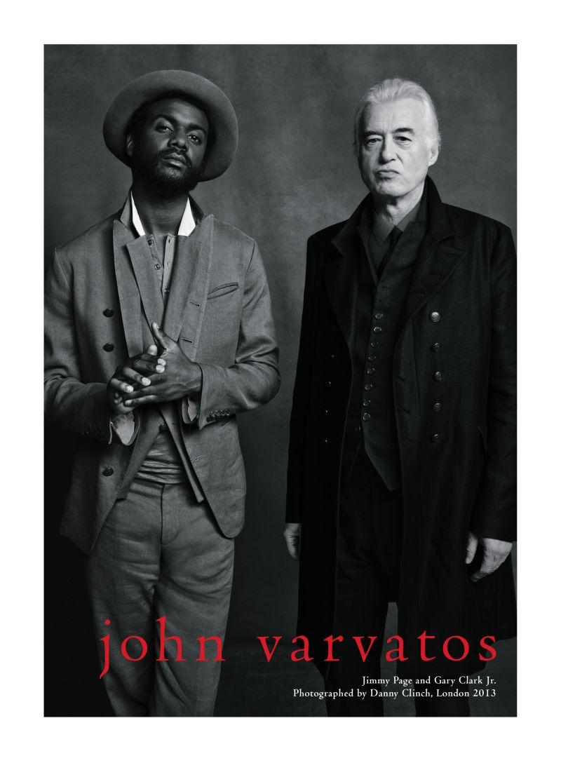Jimmy Page & Gary Clark Jr. Front John Varvatos Spring/Summer 2013 Campaign