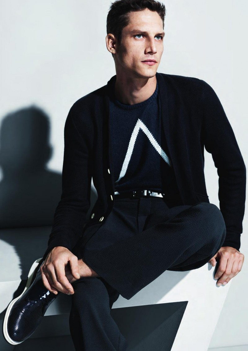 Roch Barbot Models Deconstructed Elegance for Giorgio Armani's Spring/Summer 2013 Campaign