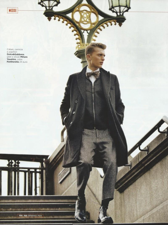 Max Rendell Models Winter Styles for Italian GQ