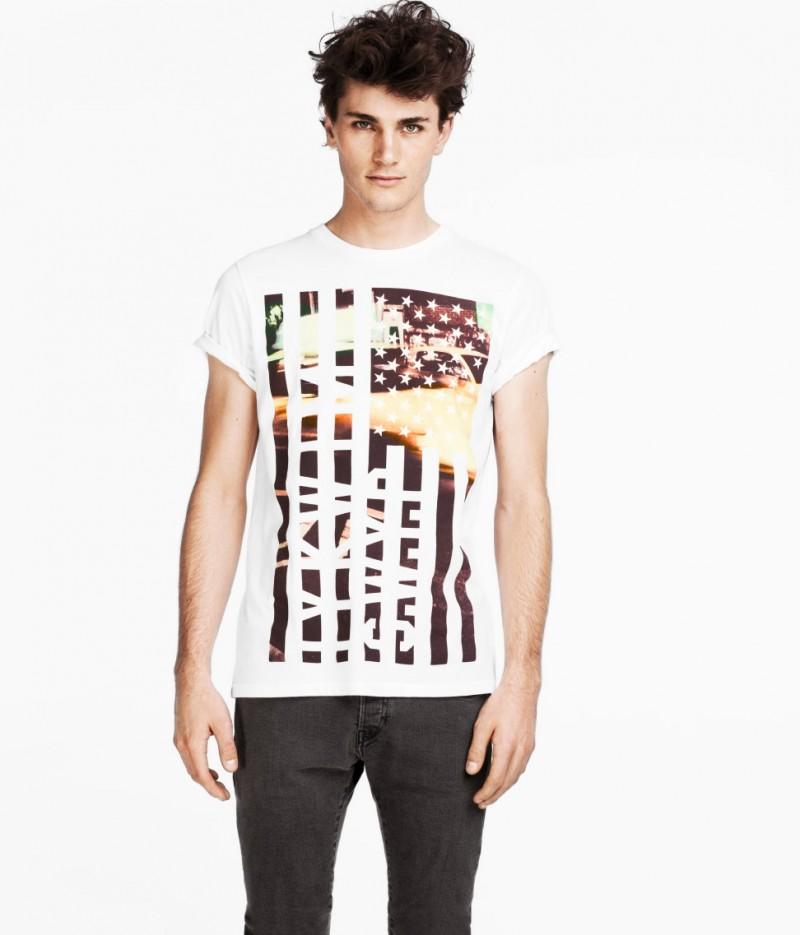 Oscar Spendrup Models H&M's Spring 2013 Basic Styles