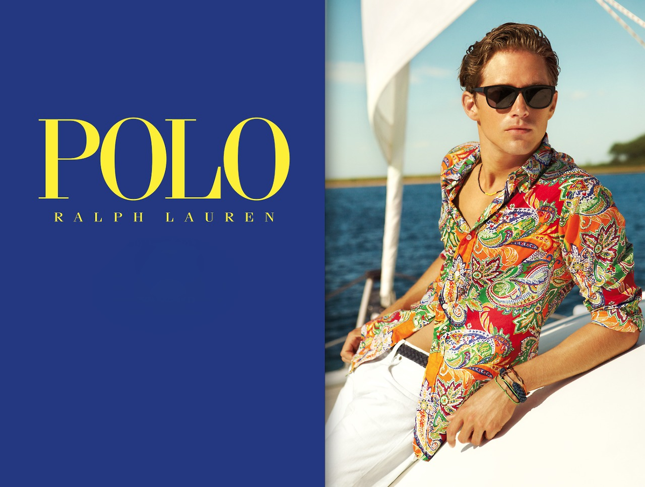 Travis Davenport & Kahari Mays Front Polo Ralph Lauren's Resort 2013 Campaign