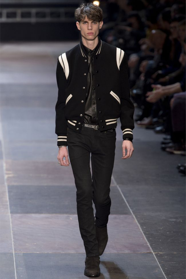 Fall's Must-Have   The Saint Laurent Varsity Jacket