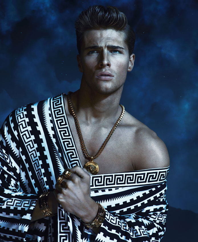 Edward Wilding, Kacey Carrig & Veit Couturier Front Versace's Spring/Summer 2013 Campaign