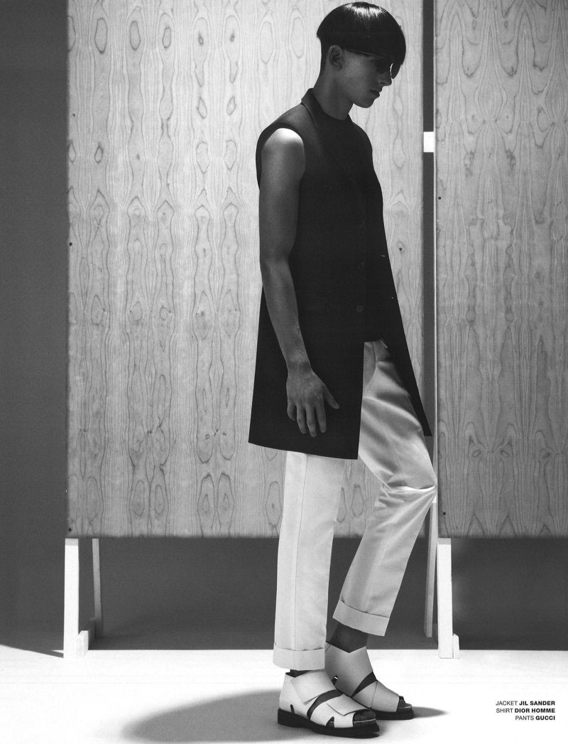 Botond Cseke Dons a White Wardrobe for VMAN