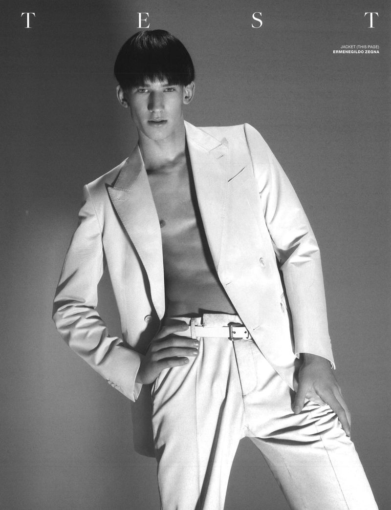 Botond Cseke Dons a White Wardrobe for VMAN