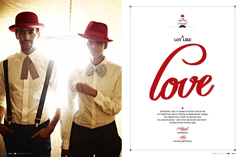 Gq India Celebrates Valentine S Day With Fashion Couples The