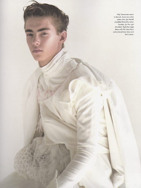 Michael Morvan Embraces a White Wardrobe for Candy
