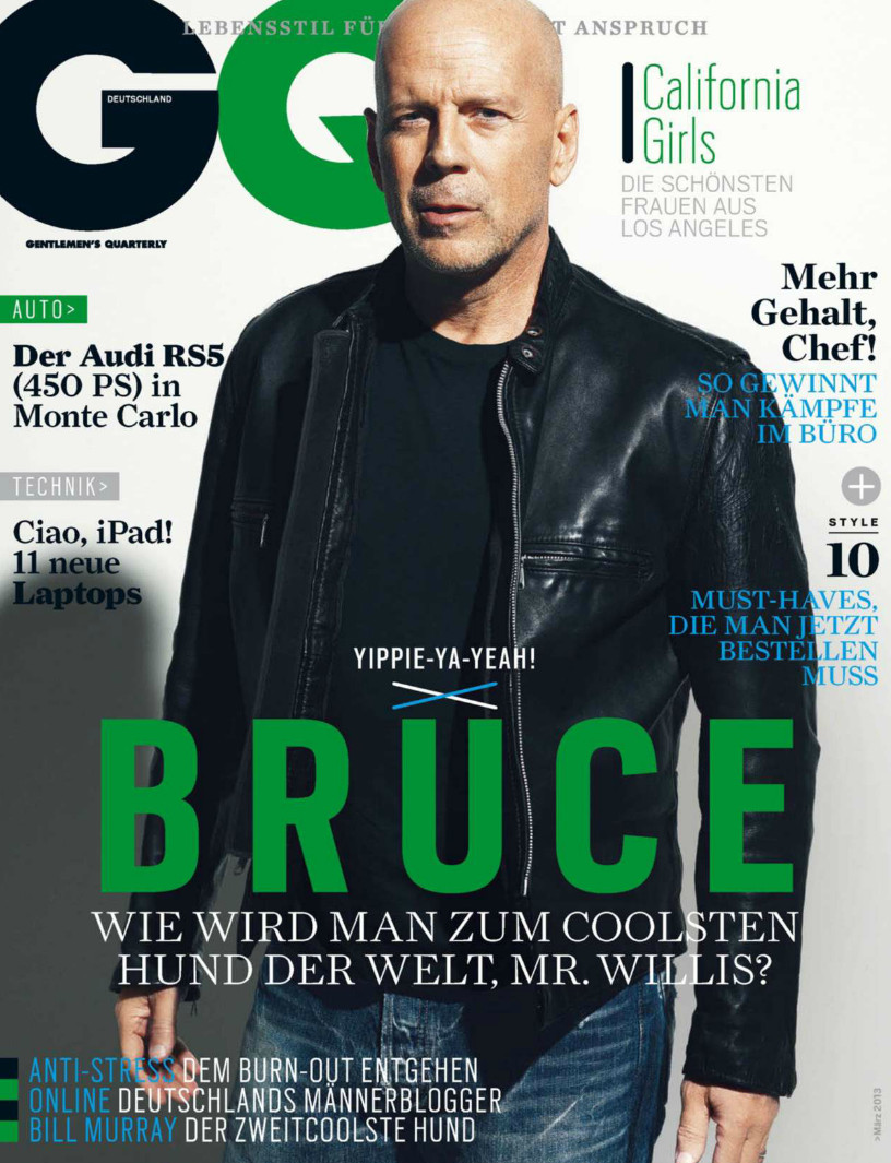 Norman Jean Roy Photographs Bruce Willis for GQ Germany's March 2013 Issue