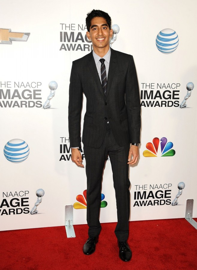 Dev Patel Wears Burberry to the 44th NAACP Awards