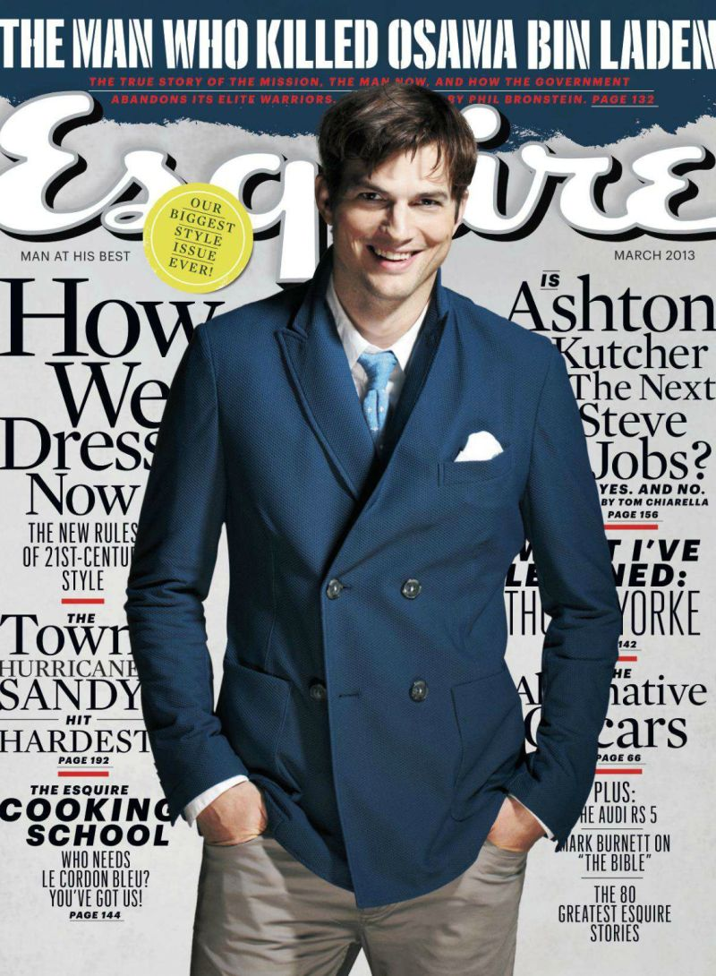 Ashton Kutcher Covers the March Issue of Esquire