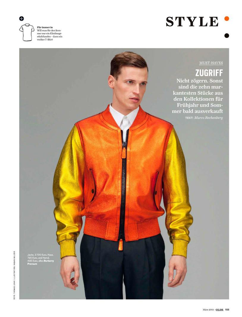 Lars Burmeister Models Spring Trends for GQ Germany