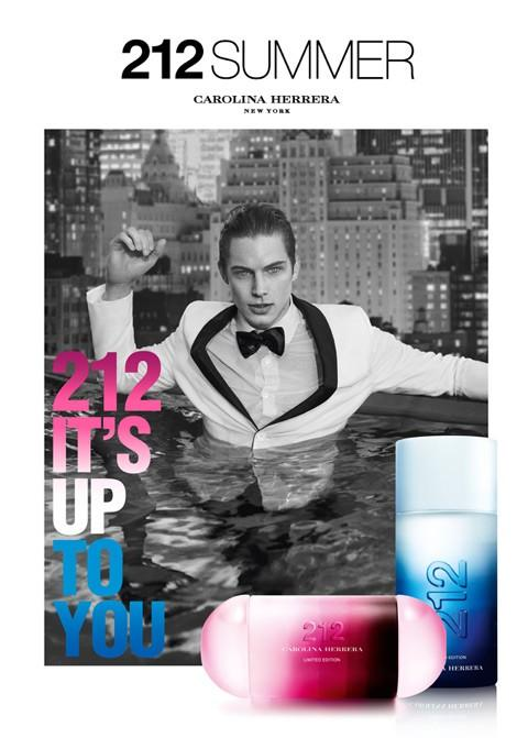 Greg Nawrat Fronts Carolina Herrera's 212 Summer Fragrance Campaign