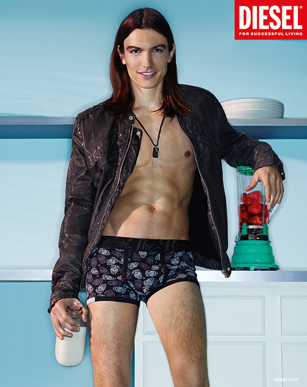 01b200e25f51 Ian Mellencamp Strips Down to his Underwear for Diesel Spring/Summer 2013  Campaign