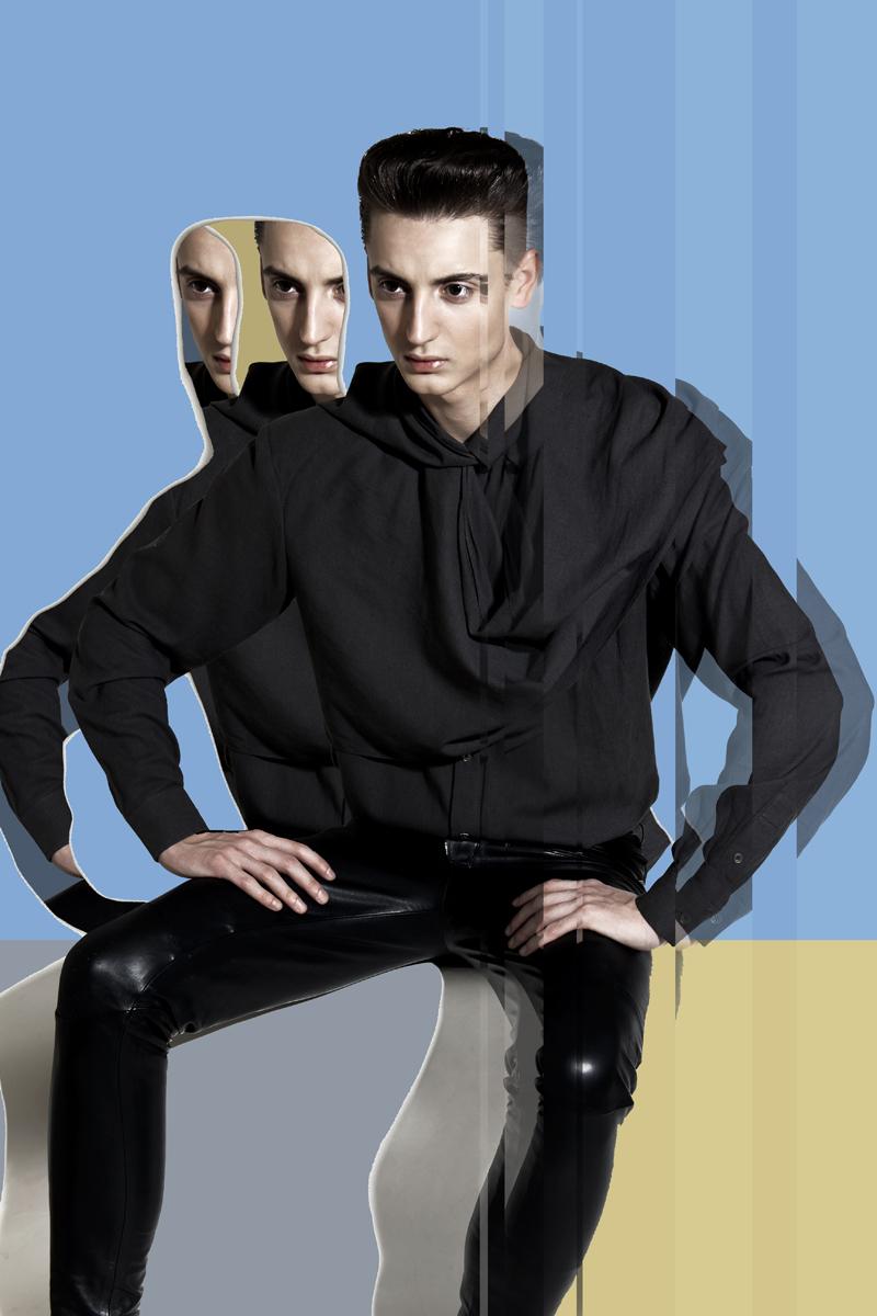 3 (shirt Helmut Lang, trousers Balmain)