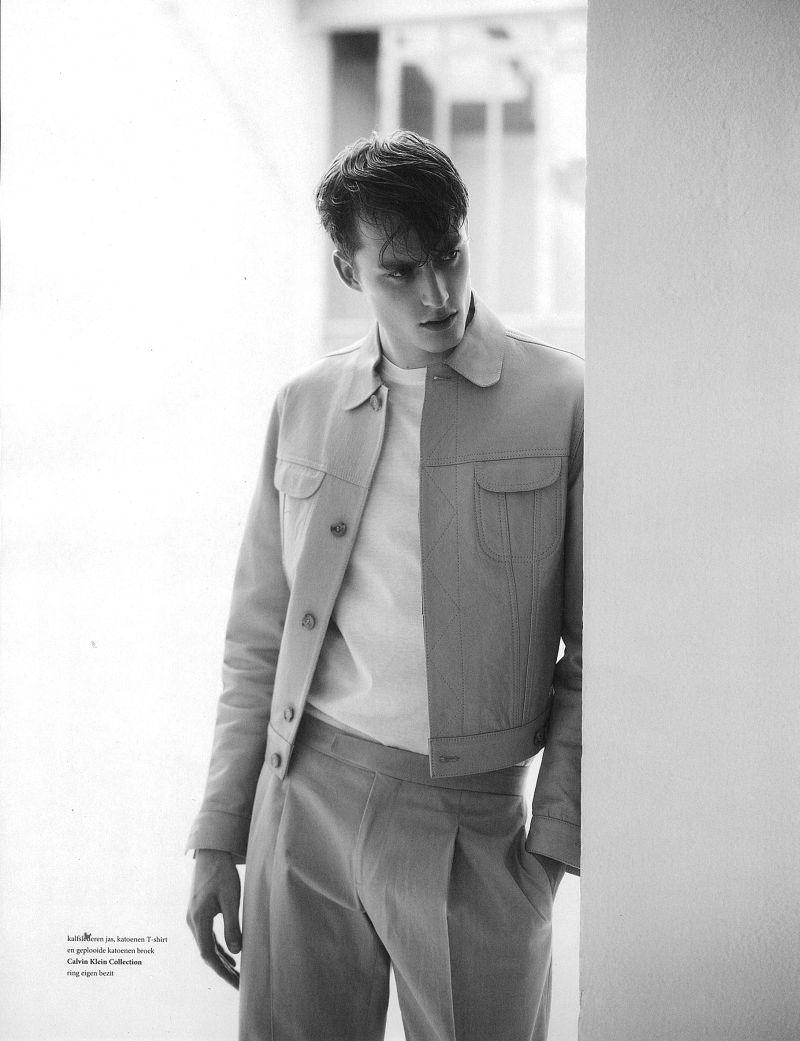 Bastiaan Van Gaalen Graces the Pages of L'Officiel Hommes NL in Calvin Klein Collection