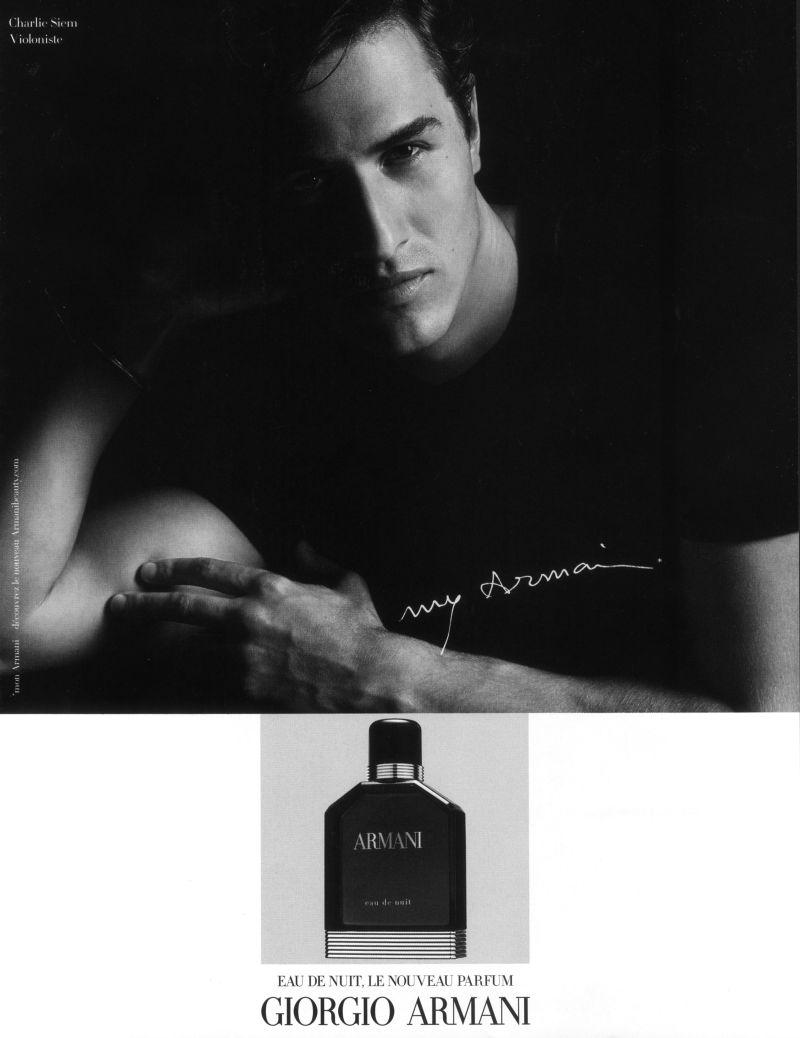 Charlie Siem for Giorgio Armani Fragrance Campaign