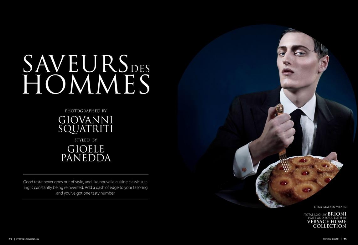 Demy Matzen, Lenz Von Johnston, Janice Fronimakis & More Dine in a Fine Suit for Essential Homme